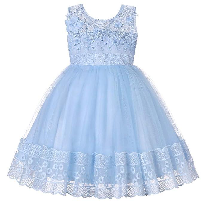 ... con Flores para Niña Vestido de Princesa Bowknot Comunión Cumpleaños Bola Pageant Paseo Baile Cóctel Fotografía Vestir: Amazon.es: Ropa y accesorios