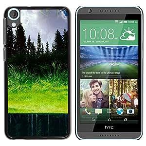 TopCaseStore / la caja del caucho duro de la cubierta de protección de la piel - Grass reflection - HTC Desire 820