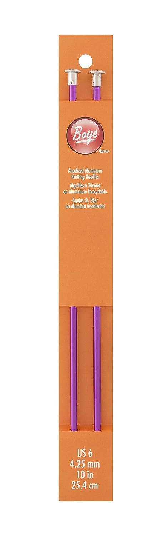 Boye 10-Inch Aluminum Single Point Knitting Needles Size 8