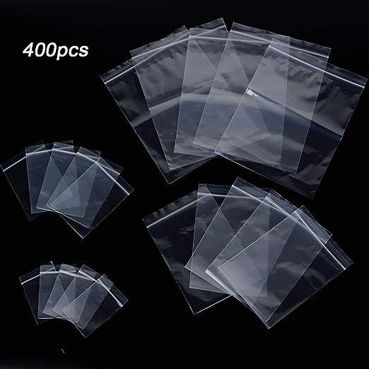 400pcs Bolsa de Plástico Transparente con Cierre Hermético ...