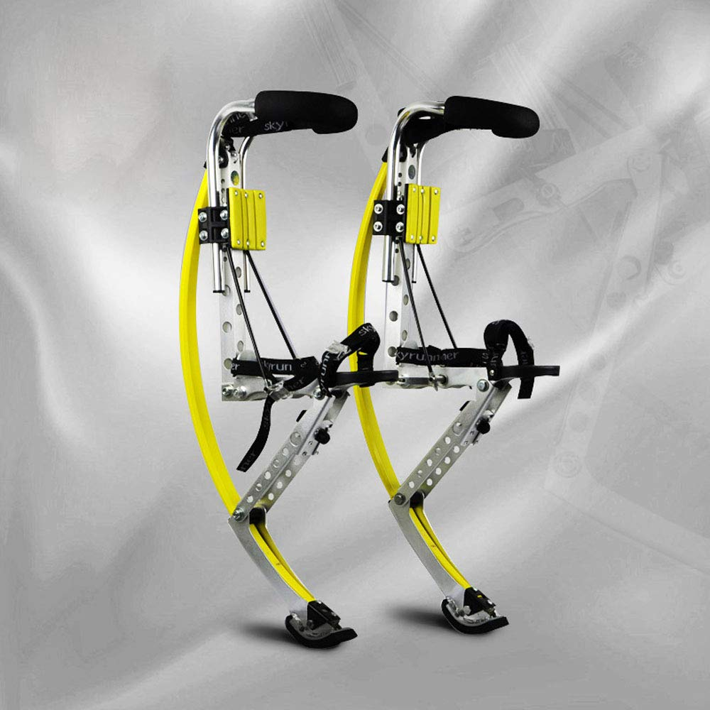 Yoli Yellow Jumping Stilts Kangaroo Stilts 50-70 kg Adult Extreme Sports Jumping Jump Stilts/skyrunner/Kangaroo Jump-Shoes/Flying Shoes by Yoli