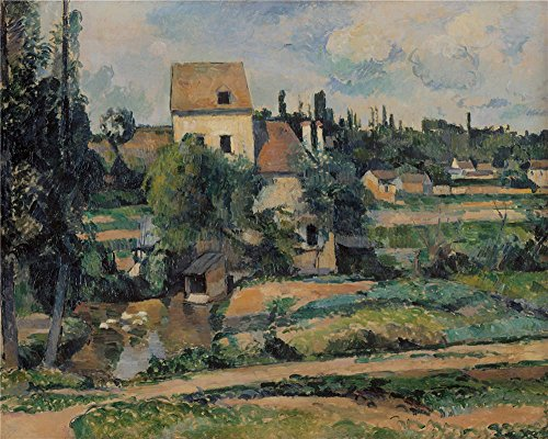 'Paul Cezanne Le Moulin Sur La Couleuvre A Pontoise ' Oil Painting, 30 X 38 Inch / 76 X 95 Cm ,printed On Polyster Canvas ,this High Resolution Art Decorative Prints On Canvas Is Perfectly Suitalbe For Powder Room Decor And Home Artwork And Gifts (Oz Park Chicago Halloween)
