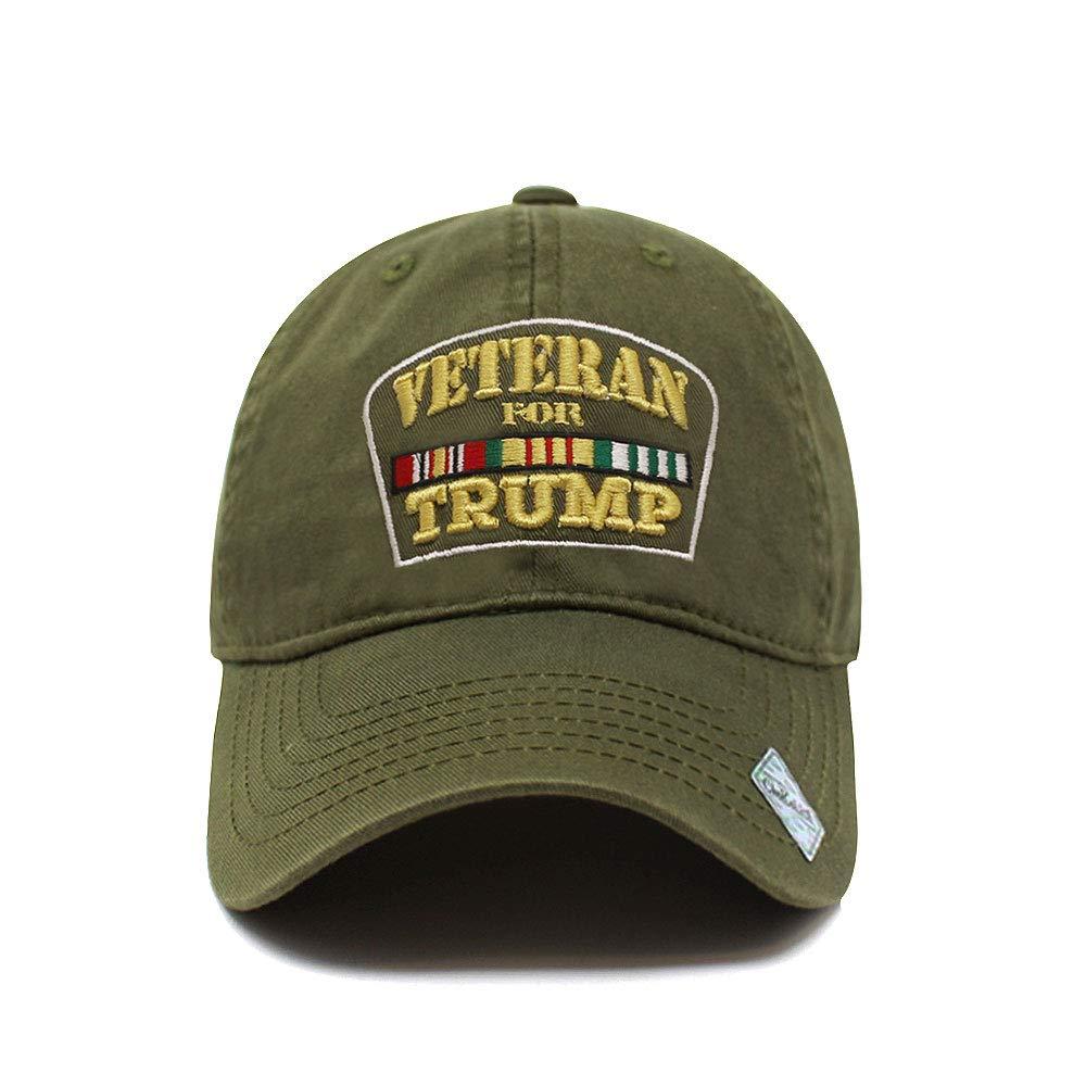 Veterans For Trump Dad Hat Cotton Ball Cap Baseball...