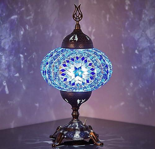 New BOSPHORUS Stunning Handmade Turkish Moroccan Mosaic Glass Table Desk Bedside Lamp Light