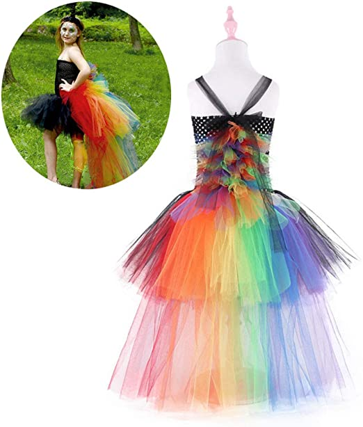 DONGBALA Vestido de Flores de Unicornio para niñas, Vestido ...