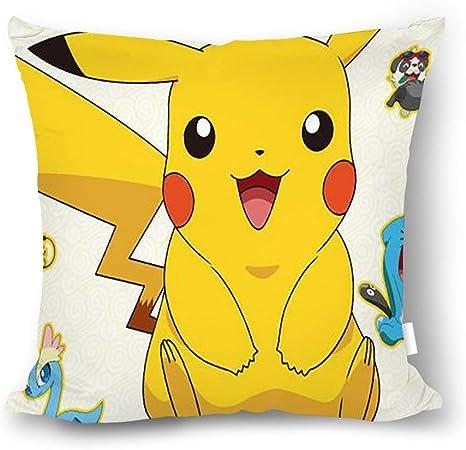 18x18in Tissu en Coton /à Coussin sans taie doreiller Principale 45x45cm chunhua Taie doreiller carr/ée Pokemon Pikachu de