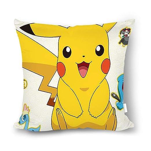 chunhua Pokemon Pikachu Funda de Almohada Cuadrada, cojín de ...
