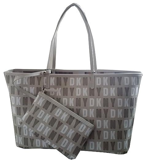 Dkny Donna Karan New York Coated Logo Reversible Tote Shopper Handbag Purse  Beige  Amazon.ca  Luggage   Bags ca69b8fa18c8f