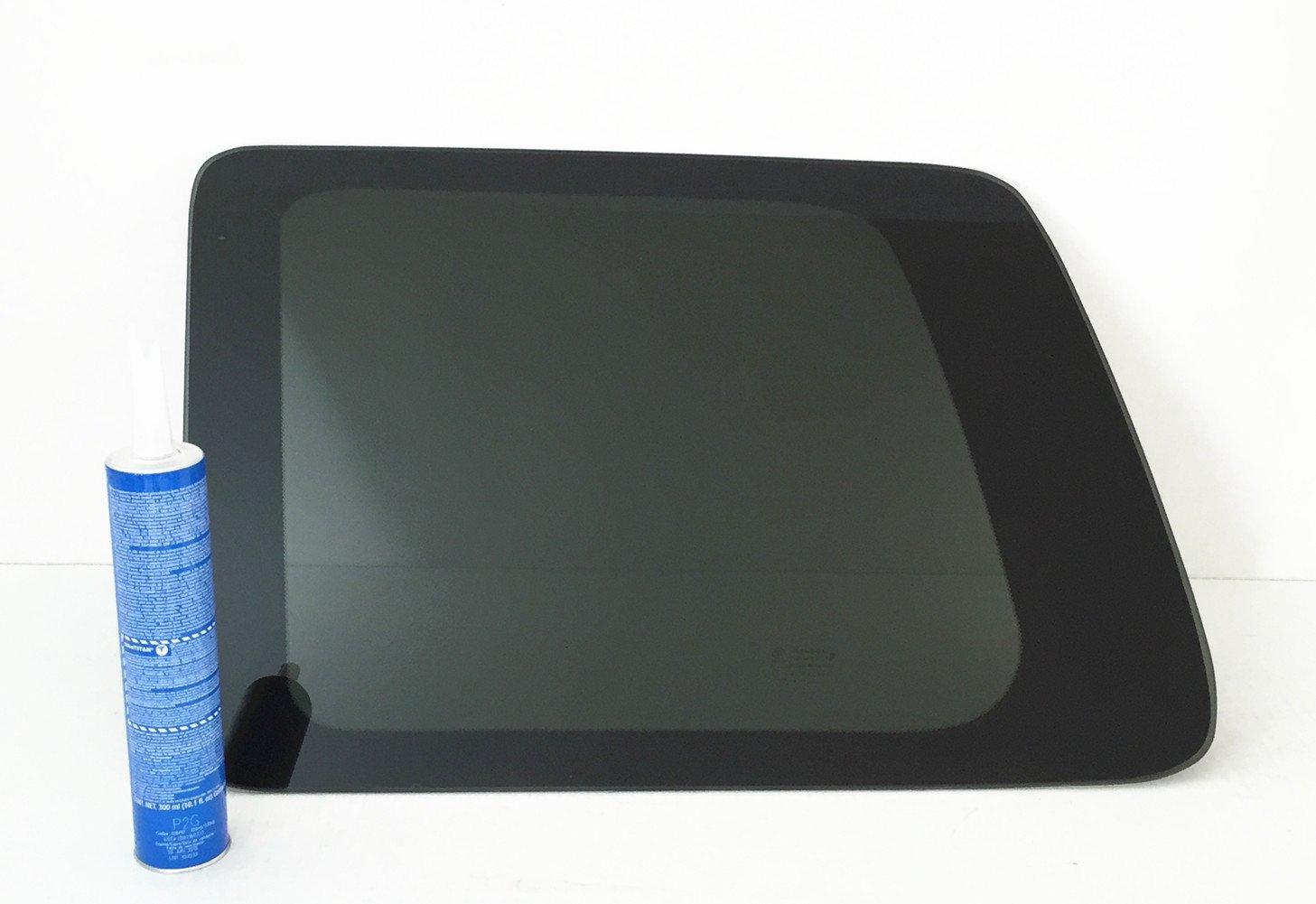 NAGD Compatible with 2009-2015 Honda Pilot Driver Left Side Rear Quarter Glass Quarter Window W//Sika