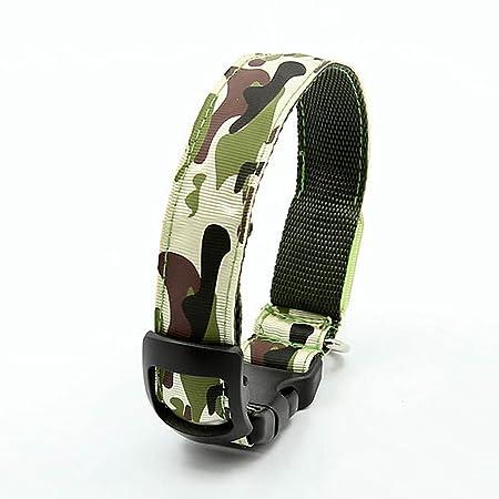 EMVANV Collar de Mascota Collar de luz LED Suave Nylon Verde ...