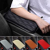 SUHU Auto Center Console Cover Pad Universal Fit for SUV/ Truck/ Car, Waterproof Car Armrest Seat Box Cover, Leather…
