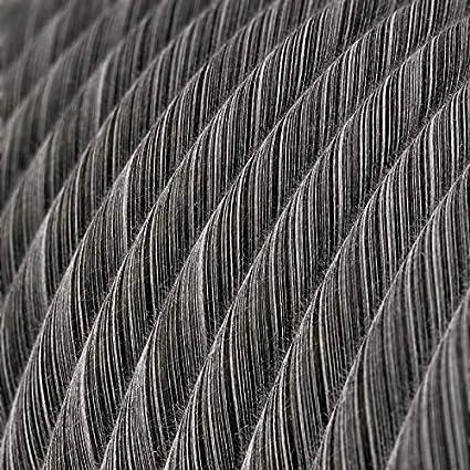 2x0.75 creative cables C/âble Vertigo Rond avec Tissage en Coton Gris et Blanc ERC37-1 m/ètre