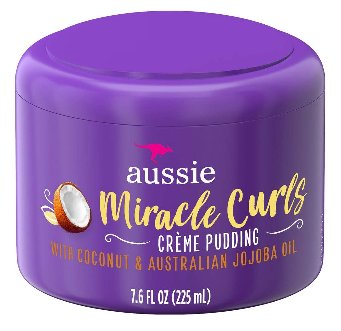 Aussie Miracle Curls Creme Pudding 7.6 Ounce Jar (225ml) (2 Pack)