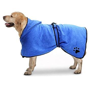 ... de Secado rápido Albornoz para Mascotas Absorbente para Mascotas Abrigo Toalla para Gato Secado Pijama Humedad: Amazon.es: Productos para mascotas
