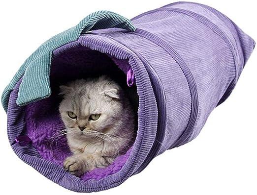 Túneles Para Gatos Artículos Para Gatos Tubos Y Túneles Para Animales Pequeños Juguete De Túnel De Gato Divertido Para Mascotas De Pana 2 Agujeros Contiene El Papel Chirriante Y Cálido En Todo: