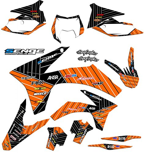 Senge Graphics kit compatible with KTM 2002-2008 SX 50, Race Series Orange Graphics Kit ()