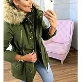 XOWRTE Women's Casual Faux Fur Coat Warm Winter