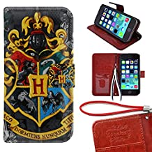 iPod Touch 5 Wallet Case, Onelee - Harry Potter Premium PU Leather Case Wallet Flip Stand Case Cover for iPod Touch 5 with Card Slots