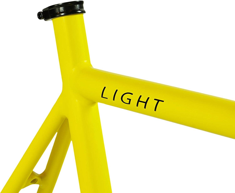 2.45 kg Single Speed Fixie Fahrrad Rahmen Aluminium Rahmen und Gabel Fixed Gear Fahrrad Rahmen 4 Farben FabricBike Light 3 Gr/ö/ßen Gr/ö/ße M