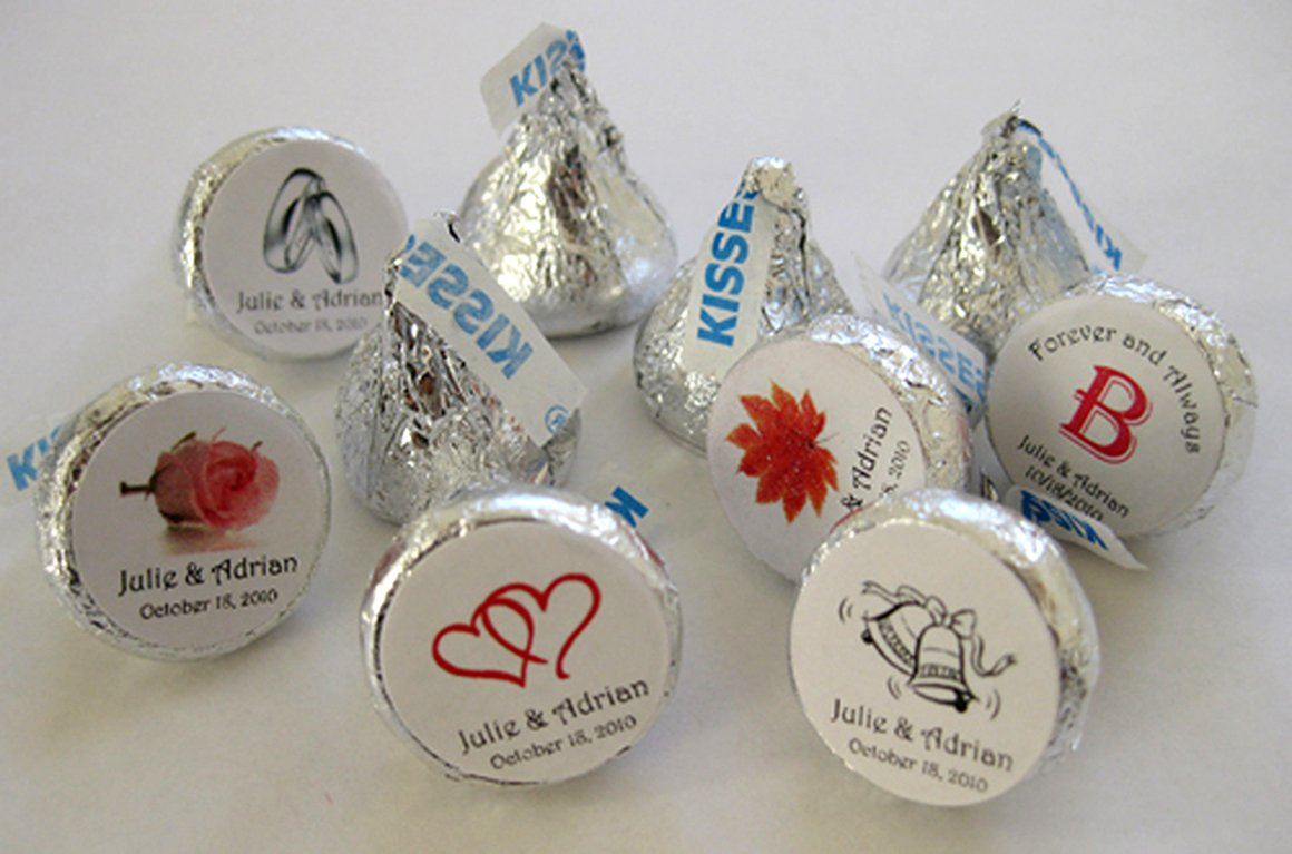 Amazon 324 Personalized WEDDING Hershey Kiss Favor Labels Wedding Sticker Wrapper Favors Health Personal Care