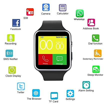 Buy ProTech Electronics X6 Bluetooth Smart Watch Android iOS