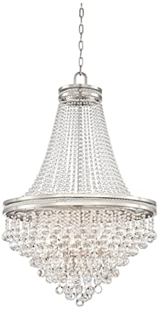 Cherrie 29 wide large clear crystal chandelier amazon cherrie 29quot wide large clear crystal chandelier aloadofball Image collections