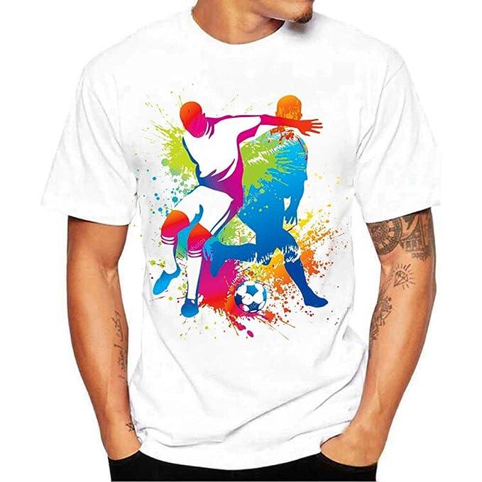 Damark Camisetas Hombre, Impresión de la Moda Camisetas Hombre Manga Corta Camisetas Hombre Originals Pack