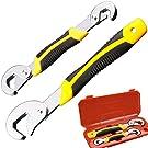 Phego 2pcs Universal Schraubenschlüssel Griff Werkzeug-Sets,Universal Schraubenschlüssel Snap … (Gelb-Schwarz)