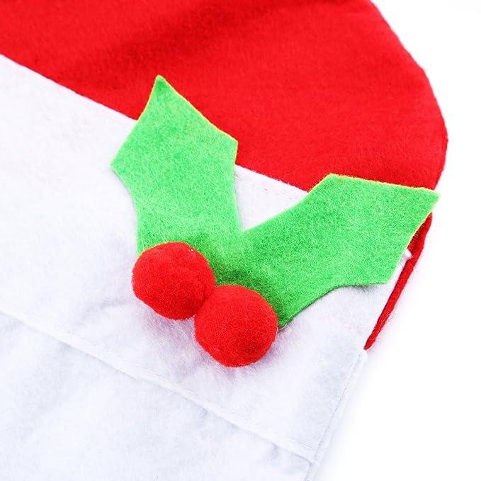 Zogin Fundas decorativas navideños para sillas con respaldo para la cena y fiesta de Nochebuena - 4 piezas: Amazon.es: Hogar