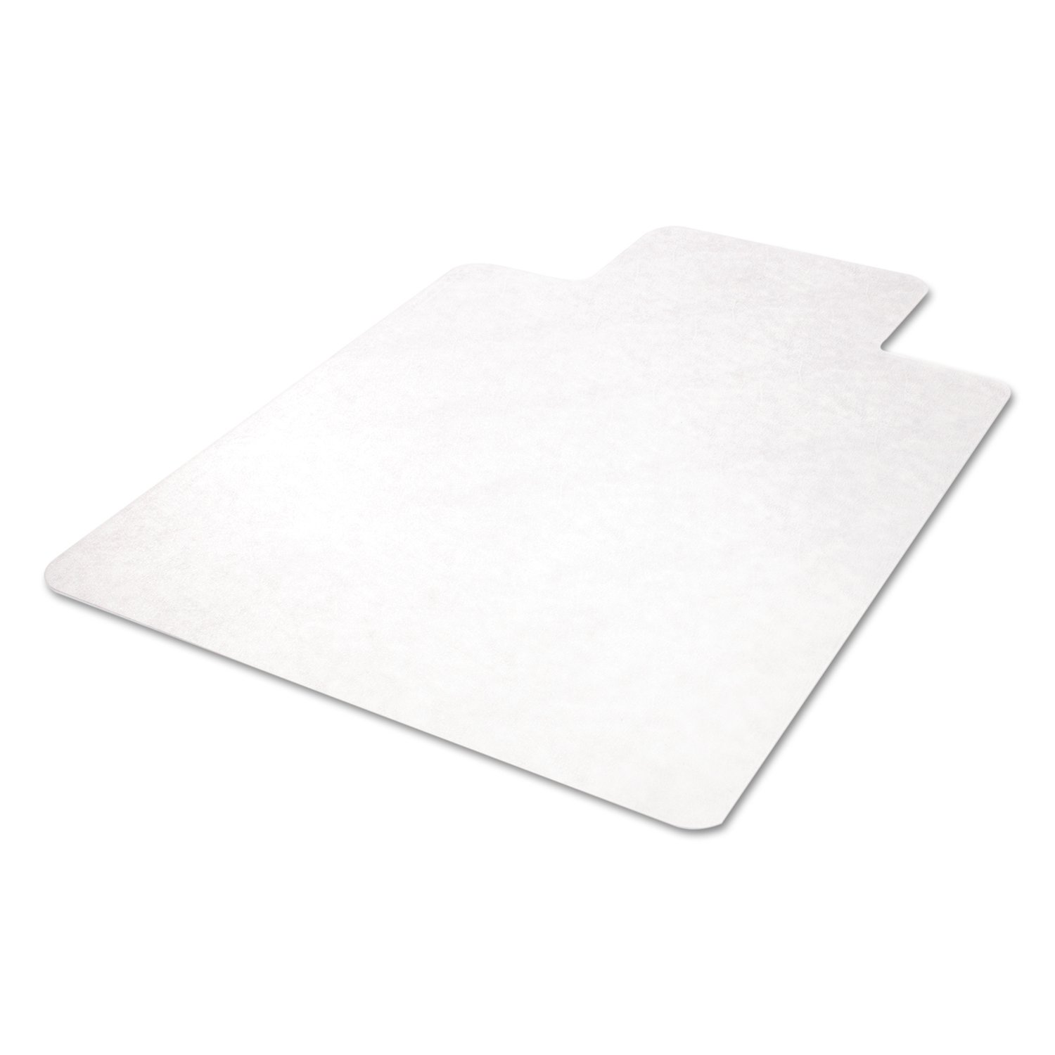 deflecto CM21232 45 x 53 w/Lip Clear EconoMat Anytime Use Chair Mat for Hard Floor
