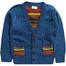 eTree Little Boys' Cardigan Cashmere Knitting Sweater Clothes