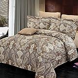 North Home 4 Piece Concord 100% Cotton Duvet Cover Set, Twin