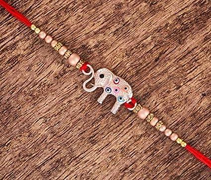 Designer Rakhi Bracelet for Brother on Rakshabandhan Traditional Elephant with Plastic Free Packaging Elephant 1