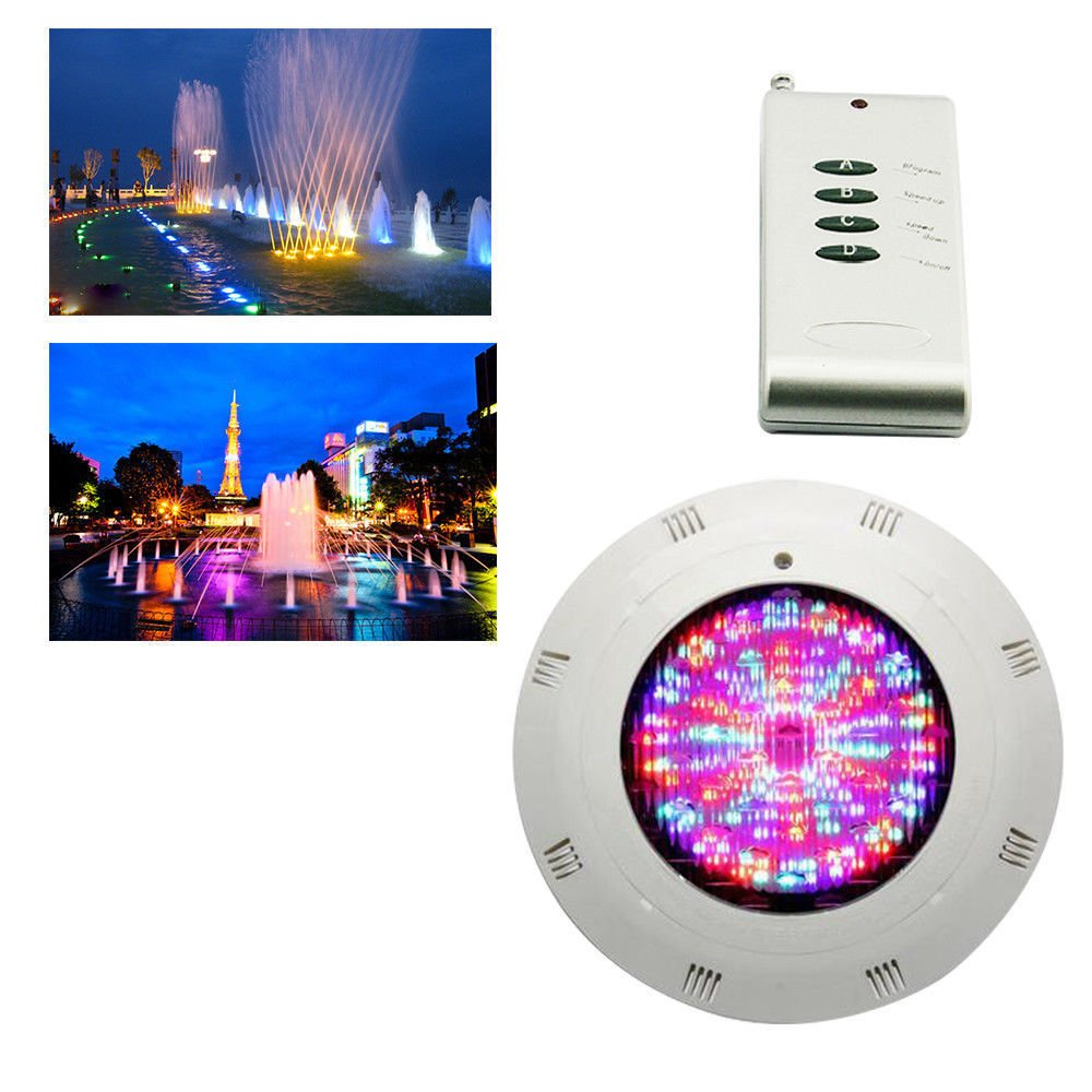 RGB 7-Color Change 18W 252LED Underwater Swimming Pool Light Lamp+Remote Control