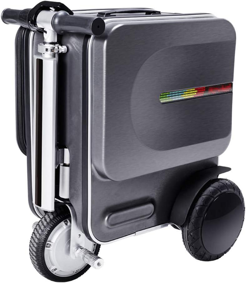 LYY Maleta eléctrica de 20 Pulgadas, Maleta Inteligente para Montar en Moto, 90 kg Carga de Carga/Barra de tracción telescópica Oculta, Vida útil de la batería 15-18 km,Darkgray