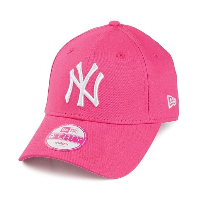 16f8e4cef5f New Era Womens 9FORTY New York Yankees Baseball Cap - Pink Adjustable   Amazon.co.uk  Clothing