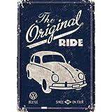 フォルクスワーゲン VW Beetle - The Original Ride / ポストカード (ブリキ製)