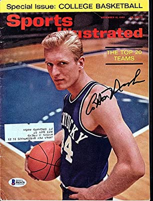 Cotton Nash Signed Sports Illustrated Magazine Kentucky Wildcats - Beckett Authenticated
