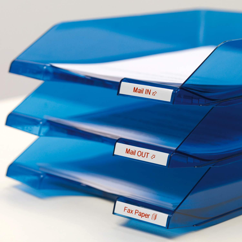 10 Pezzi Rotolo 9x7 mm DYMO D1 Etichette Originali Stampa Nero su Bianco Etichette Autoadesive per Stampanti Labelmanager