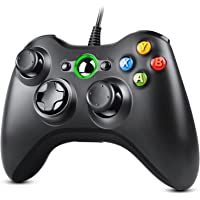 Zexrow X-Box 360 Controller, USB Wired Gamepad Joystick with Improved Dual Vibration and Ergonomic Design for Microsoft…