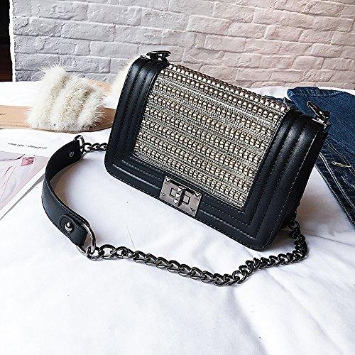 Tiered Gold GMYAN para Gold Bolsos Oro Shoulder PU Bag Mujer Silver x6PxqHY
