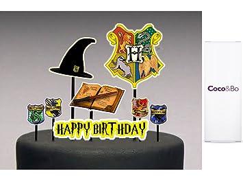 Coco & Bo – Hogwarts casas – Platinum de comida y bebida fiesta Pack para 8 – Gryffindor, Slytherin, Hufflepuff y Ravenclaw – mágico Magos Harry ...