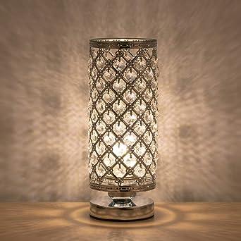 Lámpara de mesa de cristal Lámparas de noche modernas decorativas ...
