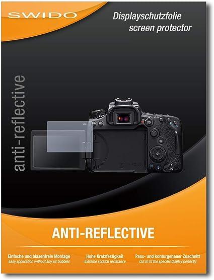 3er Set ultraklare und sto/ßd/ämpfende FX Folie atFoliX Schutzfolie kompatibel mit Canon EOS 90D Panzerfolie