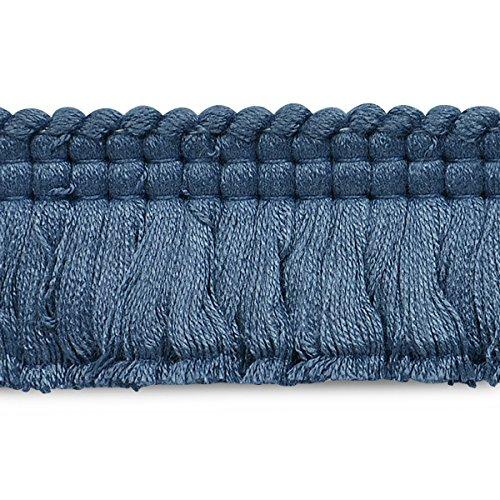 (Expo CN021914M45-24 24 Yards of Conso Brush Fringe Trim Blue)