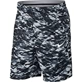 NIKE Men's Dry Print Attack Shorts, Wolf Grey/Black/White, XX-Large