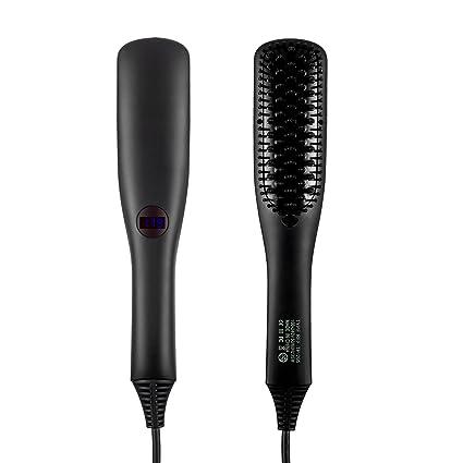 Cepillo alisador de pelo, iBeauTek 2 en 1 ionic Electric Cepillo de pelo mojado y