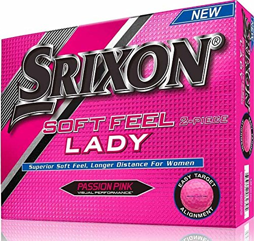 Srixon Women's Soft Feel Dozen Golf Balls, Passion Pink by Srixon