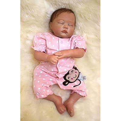 ZIYIUI Doll Reborn Bebé Muñecas 20 Pulgadas 50cm Real Bebé Reborn Dolls Silicona Suave de Vinilo Hecho a Mano Realista Bebé Holiday Birthday Present: Juguetes y juegos