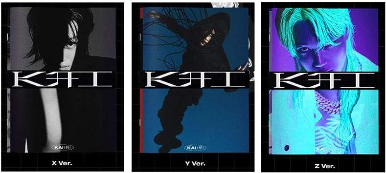 EXO Kai Kai 1st Solo Mini Album PhotoBook Version Random Cover CD+72p PhotoBook+48p Tabloid+28p Lyrics+3p Sticker+1p Card+Message PhotoCard Set+Tracking Kpop Sealed